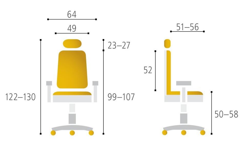 Kancelářská židle DIKE SP, antracit